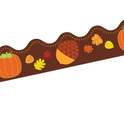 Acorns & Pumpkins Scalloped Border, Grades PreK-8  -