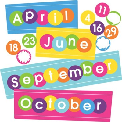 Happy Calendar Month & Number Set (set of 48)   -