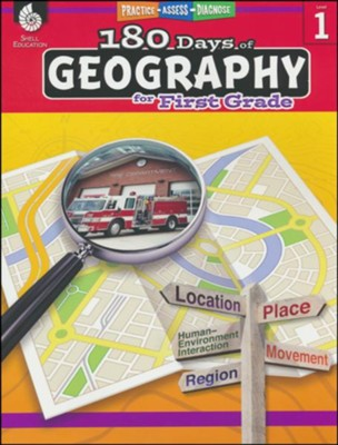 180 Days of Geography for First Grade   -