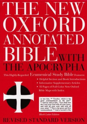 RSV New Oxford Annotated Bible with Apocrypha, Genuine leather, Black  -