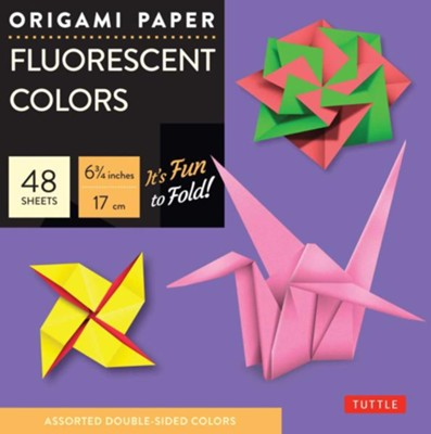 Origami Paper Fluorescent with 8 page booklet  -