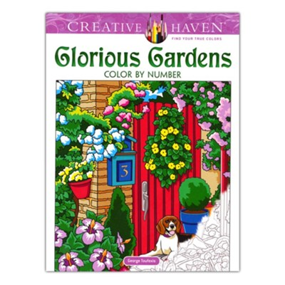 Glorious Gardens Color by Number Coloring Book  -     By: George Toufexis