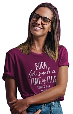 Such A Time Shirt, Berry, Medium  -