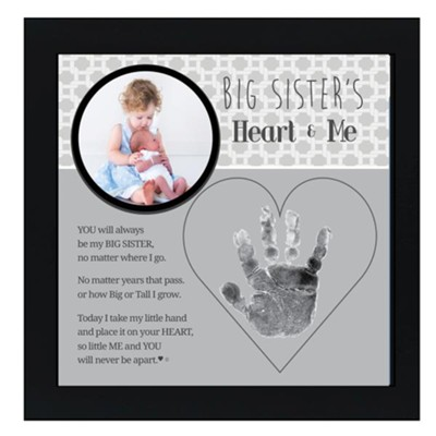 Big Sister's Heart & Me Photo Frame  -