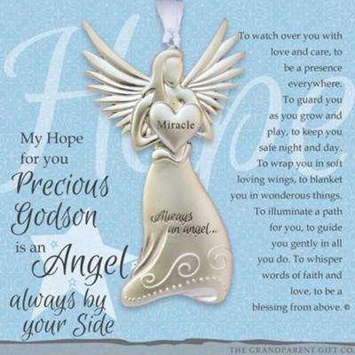 Angel Precious Godson Ornament  -