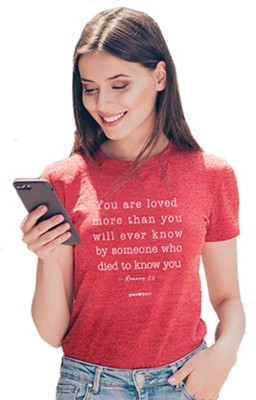 You Are Loved Shirt, Red Heather, X-Large  -