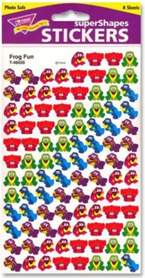 Frog Fun SuperShapes Stickers  -