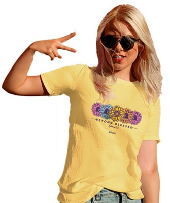 Blessed Daisies Shirt, Yellow Haze, X-Large  -