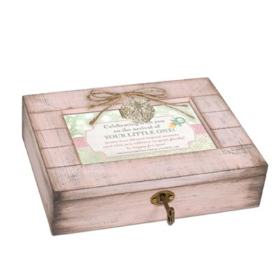 Celebrating With You on the Arrival of Your Little One, Music Box with Locket, Pink  -
