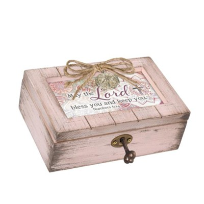 May the Lord Bless and Keep You, Petite Music Box with Locket  -