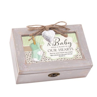 A Baby Fills a Place in Our Hearts, Petite Music Box with Locket  -