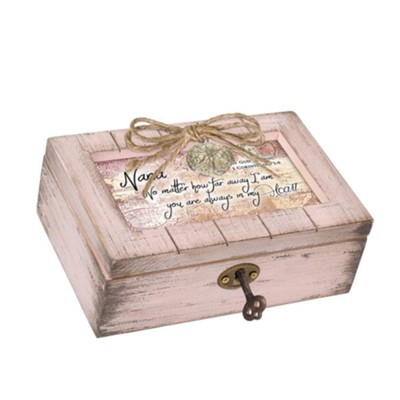Nana You Are Always In My Heart, Petite Music Box with Locket  -