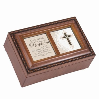 Baptism Blessings, Petite Music Box  -