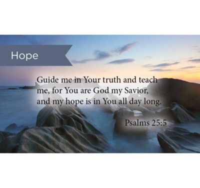 Scripture Cards, Hope, Guide Me, Psalms 25:5, Pack 25  -