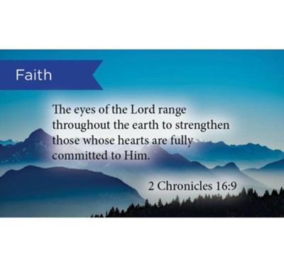 Scripture Cards, Faith, 2 Chron 16:9, Pack 25  -