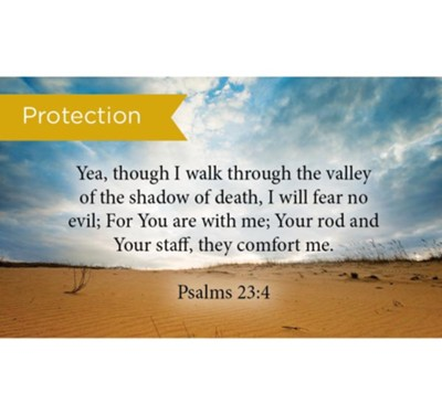 Scripture Cards, Protection, Psalms 23:4, Pack 25  -