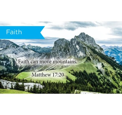 Scripture Cards, Faith, Matt 17:20, Pack 25  -