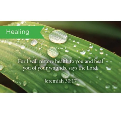 Scripture Cards, Healing, Jeremiah 30:17, Pack 25  -