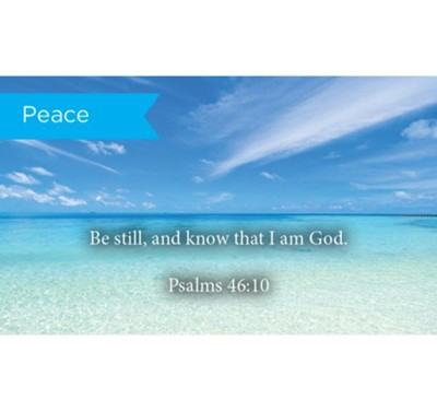 Scripture Cards, Peace, Be Still, Psalms 46:10, Pack 25  -