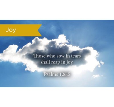 Scripture Cards, Joy, Psalms 126:5, Pack 25  -