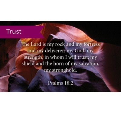 Scripture Cards, Trust, Psalms 18:2, Pack 25  -