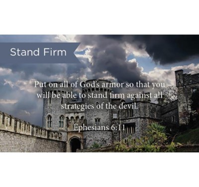 Scripture Cards, Stand Firm, Eph, 6:11, Pack 25  -