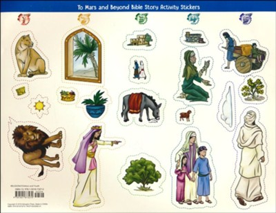 To Mars and Beyond: Bible Story Activity Stickers (Pkg. of 6)  -