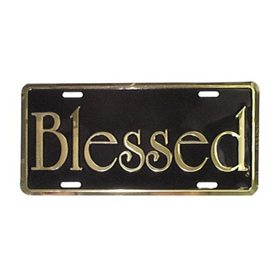 Blessed, Auto Tag Frame, Gold  -