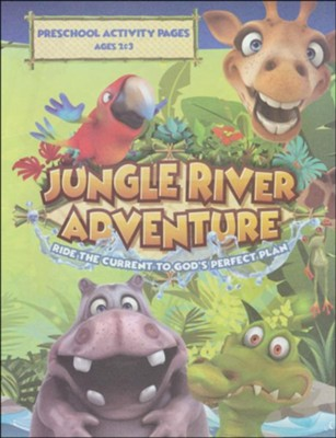 Jungle River Adventure: Preschool Activity Pages with Stickers  -