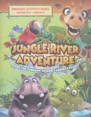 Jungle River Adventure: Primary Activity Pages with Stickers  -