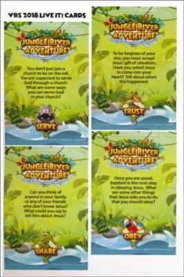 Jungle River Adventure: Live It! Cards  -