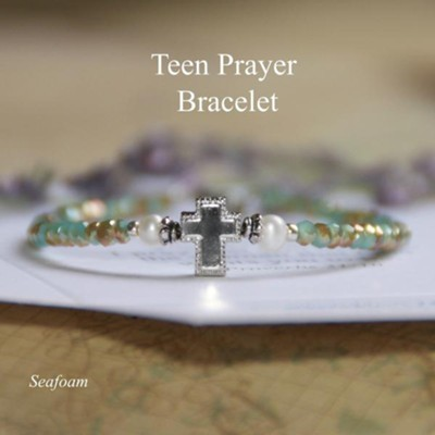 Teen Prayer Bracelet Aqua  -