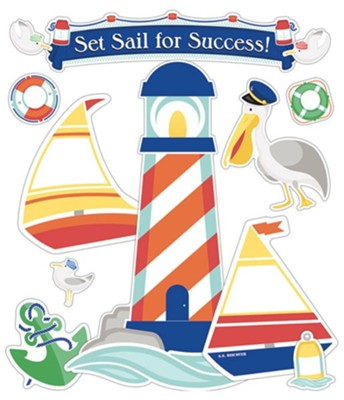Big Fish Bay: Set Sail Bulletin Board Set  -     By: Big Fish Bay