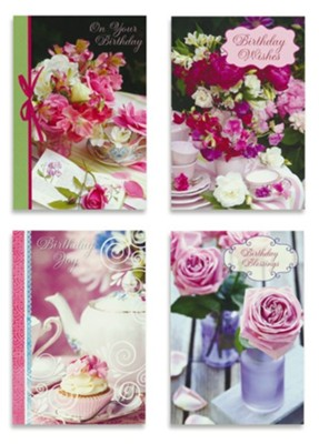 Birthday, Teacup Wishes, Boxed cards (KJV)  -