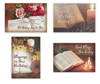 Birthday, Treasured Moments, Boxed cards (KJV)   -