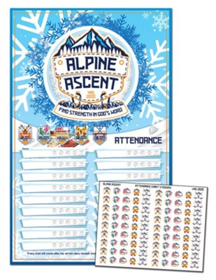 Alpine Ascent: Attendance Chart and Stickers  -