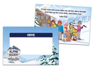 Alpine Ascent: Name Tags (pkg. of 24)  -