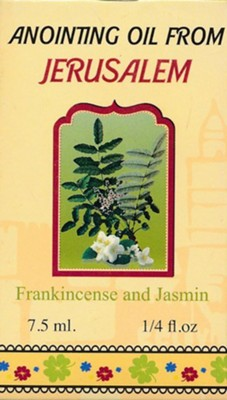 Anointing Oil from Jerusalem: Frankincense and Jasmin, 0.25 oz.  -