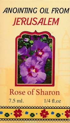 Anointing Oil from Jerusalem: Rose of Sharon, 0.25 oz.  -