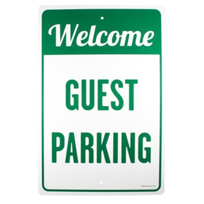 Welcome Guest Parking Church Parking Sign  -
