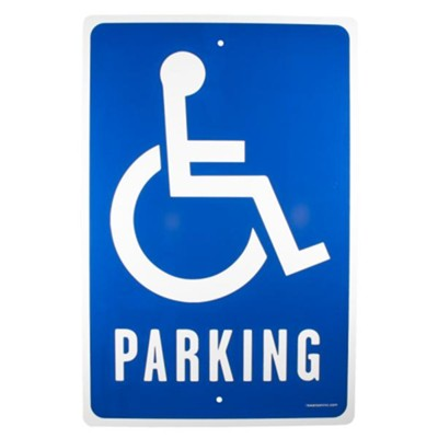 Handicap Parking Church Parking Sign  -