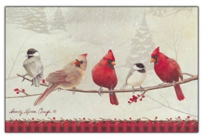 Birds On A Branch, Boxed Christmas Cards   -