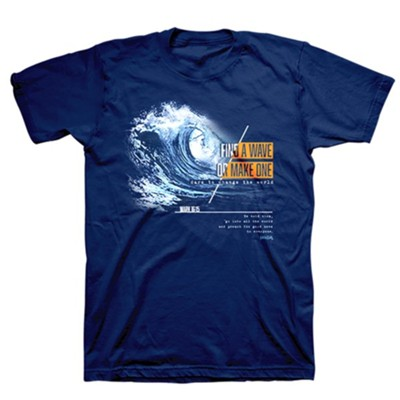 Make Waves Shirt, Metro Blue, X-Large  -