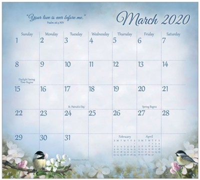 2020 Songbirds of Faith Magnetic Calendar Pad  -     By: Hautman Brother