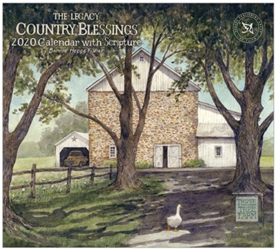 2020 Country Blessings Wall Calendar  -     By: Bonnie Heppe Fisher