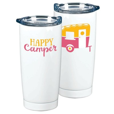 Happy Camper Stainless Steel Tumbler