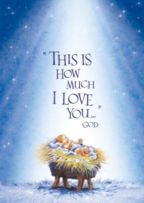 Baby Jesus Christmas Christmas Card with Magnet, Set of 18   -