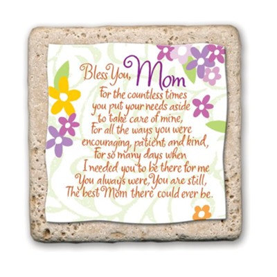 Bless You Mom Sentiment Tile  -