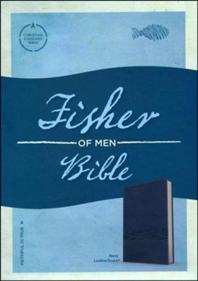 CSB Fisher of Men Bible, Soft Leather-Look, Navy   -