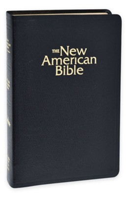 NABRE Deluxe Gift Bible, Bonded Leather, Black   -